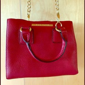 Steve Madden red leather purse